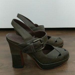 Frye Leather Goldie Slingback Heels